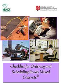 Checklist for Ordering and Scheduling Ready Mixed Concrete