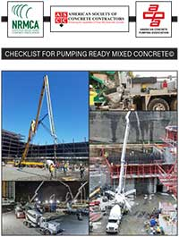 Checklist for Pumping Ready Mixed Concrete