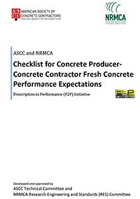 Checklist for Concrete Producer-Concrete Contractor